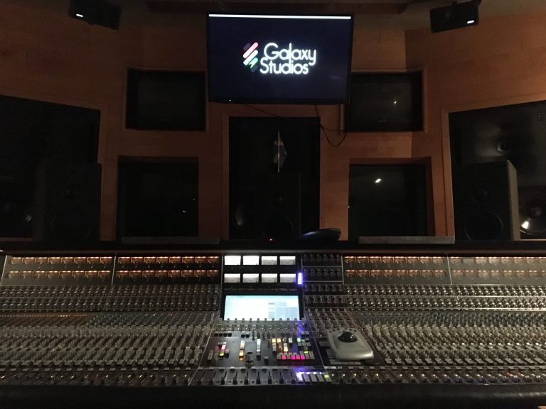 A photo of the API Vision console at Galaxy Studios